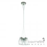 Люстра Eglo Varmo 94671 лофт, рифленое стекло, сатиновый никель, прозрачный