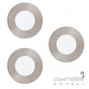 Светильник точечный Eglo Fueva 1 94734 хай-тек, модерн, литой металл, пластик, сатиновый никель, набор 3 шт
