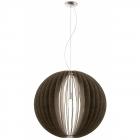 Люстра Eglo Cossano 94637 сатиновый никель, темно-коричневый, дерево, сталь