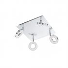 Светильник настенно-потолочный спот Eglo Gonaro 94763 хай-тек, модерн, сталь, пластик, хром, белый