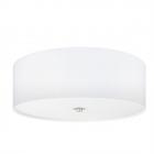 Светильник настенно-потолочный Eglo Pasteri 94918 хай-тек, модерн, сталь, ткань, стекло, сатиновый никель, белый
