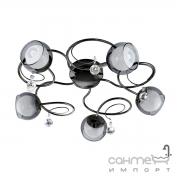 Люстра Eglo Ascolese 1 95159 хай-тек, модерн, сталь, стекло, никель-черный, черный-прозрачный, белый