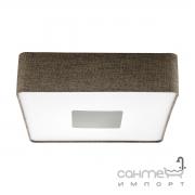 Светильник настенно-потолочный Eglo Tacuba 95321 хай-тек, модерн, сталь, пластик, льняная ткань, белый, коричневый