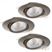 Светильник точечный Eglo Tedo 95359 хай-тек, модерн, литой алюминий, сатиновый никель, набор 3 шт