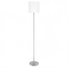 Торшер Eglo Pasteri 95164 хай-тек, модерн, сталь, ткань, сатиновый никель, белый
