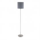 Торшер Eglo Pasteri 95166 хай-тек, модерн, сталь, ткань, сатиновый никель, серый