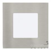 Светильник точечный Eglo Fueva 1 95466 хай-тек, модерн, литой металл, пластик, сатиновый никель, белый