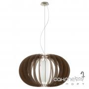 Люстра Eglo Stellato 3 95593 хай-тек, модерн, сталь, дерево, стекло, сатиновый никель, коричневый, белый