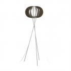 Торшер Eglo Stellato 3 95596 скандинавский, сталь, дерево, стекло, сатиновый никель, белый, коричневый