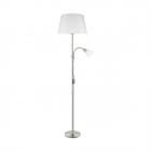 Торшер Eglo Conesa 95686 хай-тек, модерн, сталь, стекло, сатиновый никель, белый