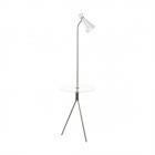 Торшер Eglo Policara 97772 хай-тек, модерн, сталь,  стекло, сатиновый никель, прозрачный, белый