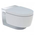 Подвесной унитаз с функцией биде Geberit AquaClean Mera Comfort 146.214.21.1 глянцевый хром, белый