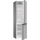Отдельностоящий двухкамерный холодильник с нижней морозильной камерой Gorenje NRK 6201 ES 4 серебристый металлик