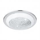 Люстра Eglo Acolla 95641 арт-деко, сталь, стекло с кристаллами, хром, белый, прозрачный