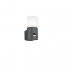 Светильник уличный настенный с датчиком движения Trio HOOSIC 222260142 Антрацит, Белый Пластик