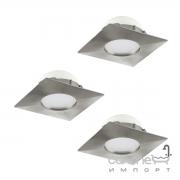 Светильник точечный Eglo Pineda 95803 хай-тек, модерн, пластик, сатиновый никель