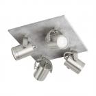 Светильник настенно-потолочный спот Eglo Praceta 95744 лофт, сталь, серый, матовый никель