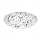 Светильник настенно-потолочный Eglo Margitta 1 96117 хай-тек, модерн, сталь, стекло, белый, прозрачный, черный