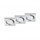 Набор точечных светильников (3шт.) Trio RILA 650210306 Хром