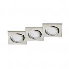 Набор точечных светильников (3шт.) Trio RILA 650210307 Никелевый мат