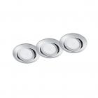 Набор точечных светильников (3шт.) Trio RILA 650310306 Хром