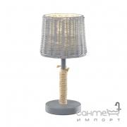 Настольная лампа Trio ROTIN 510900111 Серая