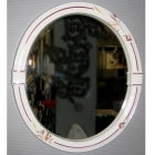 Зеркало в керамической раме Herbeau Old Time 12.04 белое, декор Avenes