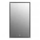 Зеркало с LED-подсветкой iStone Hannah WD2912-2F(80) 80х220 рама черный матовый камень