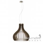 Люстра Eglo Tindori 96217 кантри, прованс, сталь, дерево, белый, стекло, сатиновый никель, коричневый