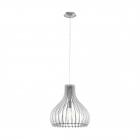 Люстра Eglo Tindori 96257 кантри, прованс, сталь, дерево, белый, сатиновый никель