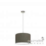 Люстра Eglo Pasteri 96379 хай-тек, модерн, сталь, льняная ткань, сатиновый никель, коричневый