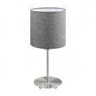 Настольная лампа Eglo Parri 96376 хай-тек, модерн, сталь, текстиль, лен, никель матовый, серый
