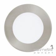Светильник точечный Eglo Fueva 1 96406 хай-тек, модерн, литой металл, пластик, белый, сатиновый никель