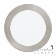 Светильник точечный Eglo Fueva 1 96407 хай-тек, модерн, литой металл, пластик, белый, сатиновый никель