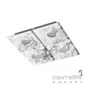 Светильник потолочный Eglo Aliste 96487 хай-тек, модерн, сталь, пластик, матовое стекло, серый, белый