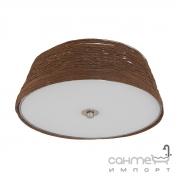 Светильник потолочный Eglo Donado 96467 скандинавский, сталь, текстильная нить, стекло, белый, сатин, коричневый