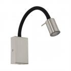 Светильник бра настенный c USB выходом Eglo Tazzoli 96567 хай-тек, сталь, пластик, сатиновый никель, черный