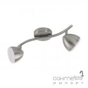 Светильник потолочный Eglo Calvos 1 96808 хай-тек, модерн, сталь, пластик, матовый никель, белый