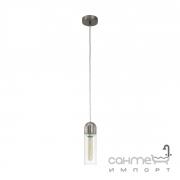 Люстра Eglo Zacharo 96941 подвес, лофт, сталь, стекло, сатиновый никель, прозрачный