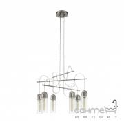 Люстра Eglo Zacharo 96943 подвес, лофт, сталь, стекло, прозрачный, сатиновый никель