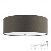 Светильник потолочный Eglo Pasteri 96389 хай-тек, модерн, сталь, ткань, стекло, сатиновый никель, коричневый