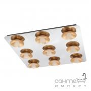 Светильник потолочный Eglo Torano 97525 хай-тек, модерн, сталь, матовое стекло, хром, золото, белый