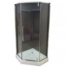 Душевая кабина с поддоном Veronis KN-16-00 профиль хром, прозрачное стекло