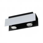 Светильник точечный Eglo Viserba 97395 хай-тек, модерн, сталь, белый-алюминий, черный