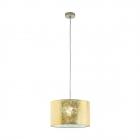 Люстра Eglo Viserbella 97643 арт-деко, сталь, ткань, шампань, золото