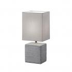 Настольная лампа Reality Lights Ping R50131087 Титан Керамика и Серый Абажур