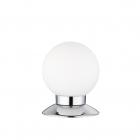 Настольная лампа Reality Lights Princess R52551906 Хром, Белое Стекло