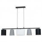Люстра Eglo Almeida 1 98588 хай-тек, модерн, сталь, текстиль, черный, серый, белый