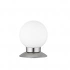 Настольная лампа Reality Lights Princess R52551907 Никель Матовый, Белое Стекло