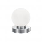 Настольная лампа Reality Lights Prinz R5400-01 Никель Матовый, Белое Стекло